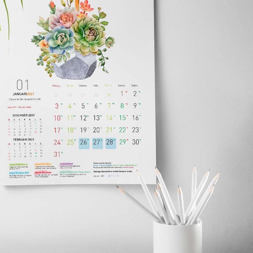 >_94 2021 Kalender Puasa, Kalender Dinding SPIRAL dan KLEM ...
