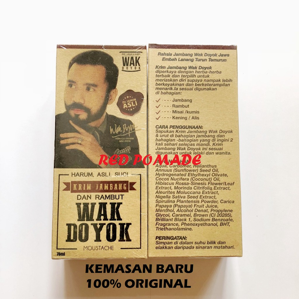 Terbaru KRIM JAMBANG WAK DOYOK 100 ORIGINAL PENUMBUH JAMBANG KUMIS RAMBUT Diskon | Shopee Indonesia