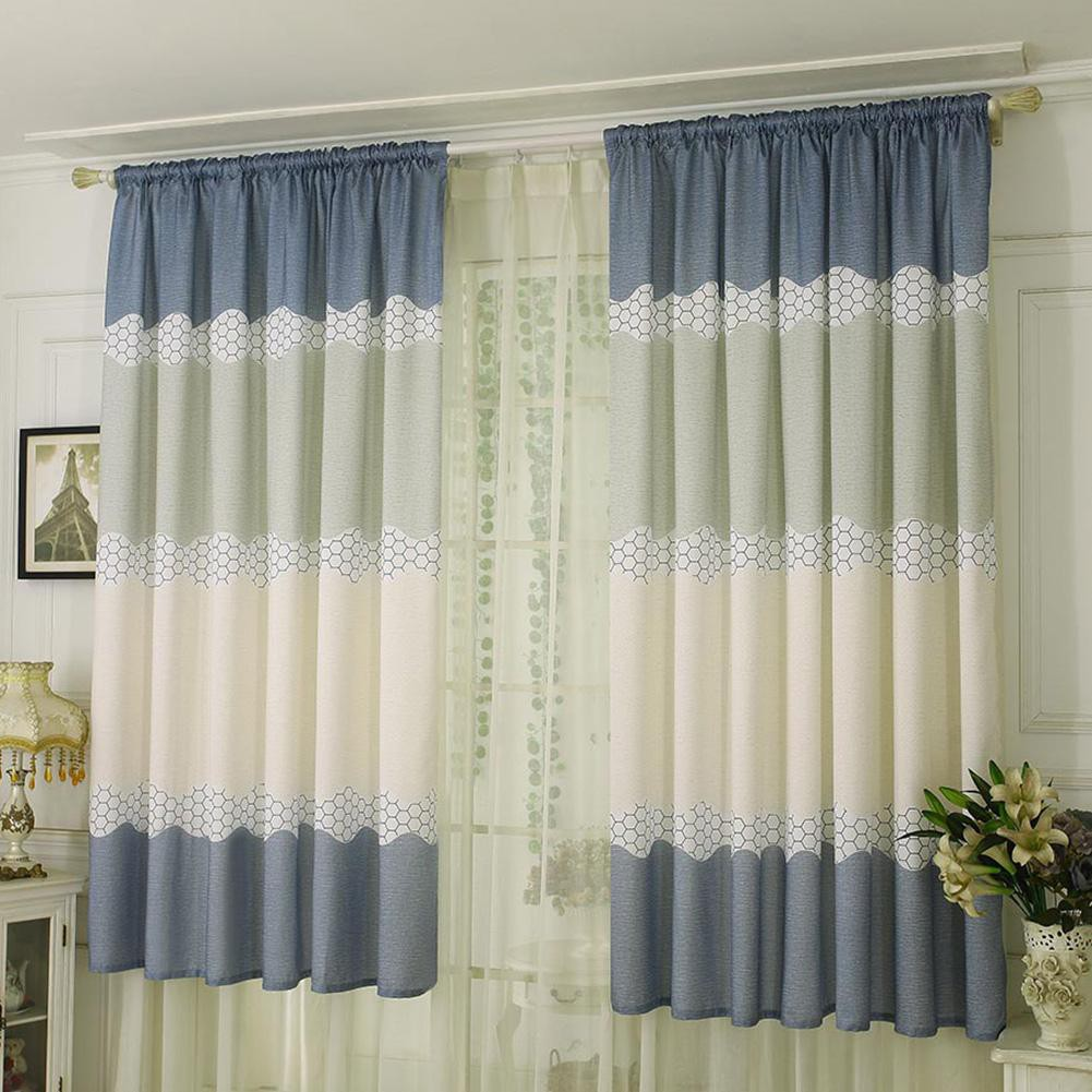 2pcs Simple Sheer Voile Tulle Drapes for Living Bedroom Windows Curtains