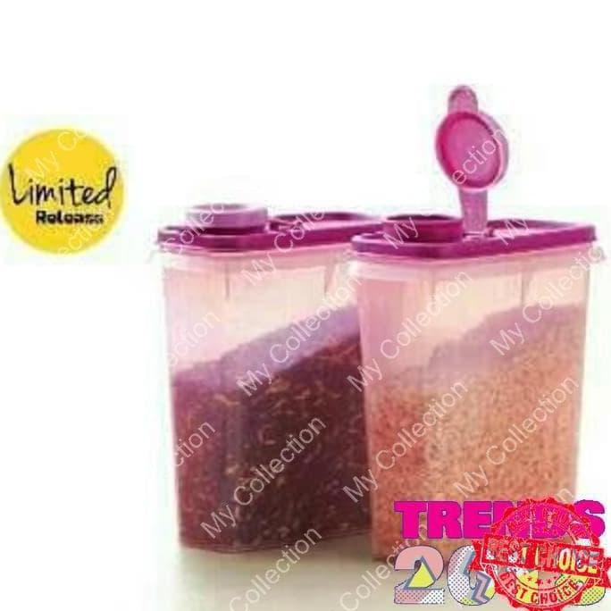 Promo Bulan Ini New Fancy Crystalwave Lunch Set Cwl Tupperware Pink Terlaris | Shopee Indonesia