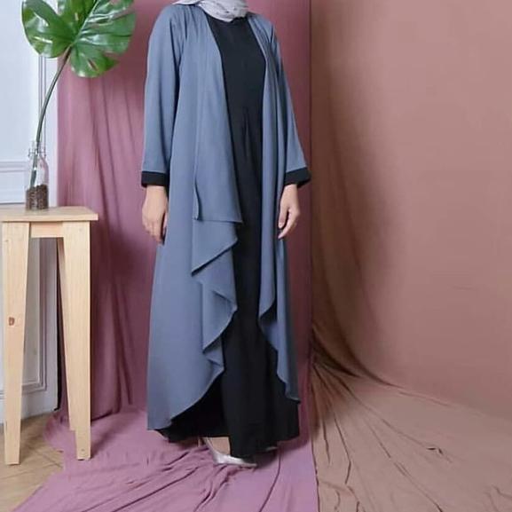 ➬ azkia maxi dress muslim / gamis murah /grosir baju hijab bandung ➩
