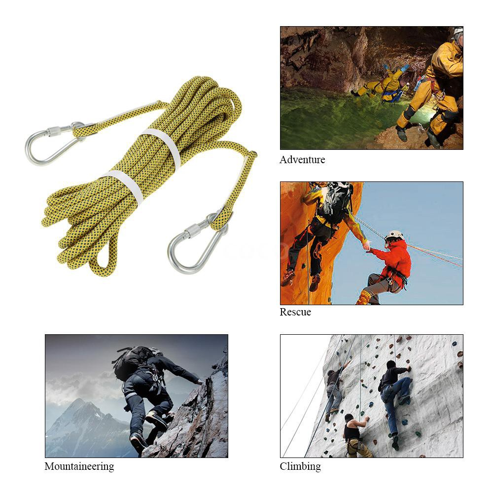 Professional Outdoor Survival Rappelling Auxiliary Rope Rock Climbing Equip