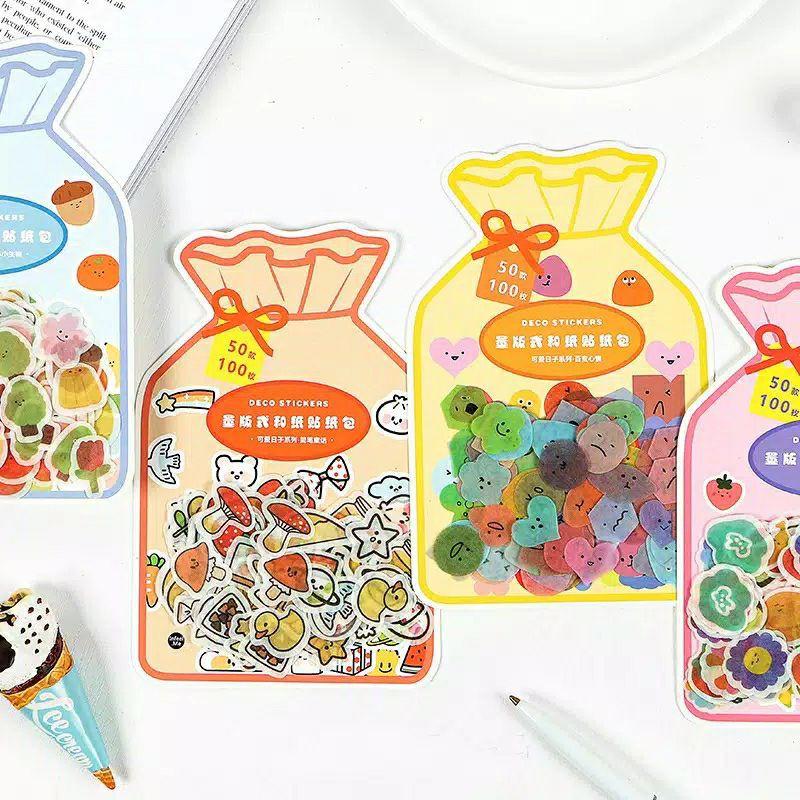 Mini Washi Sticker Set ( 100 pcs )
