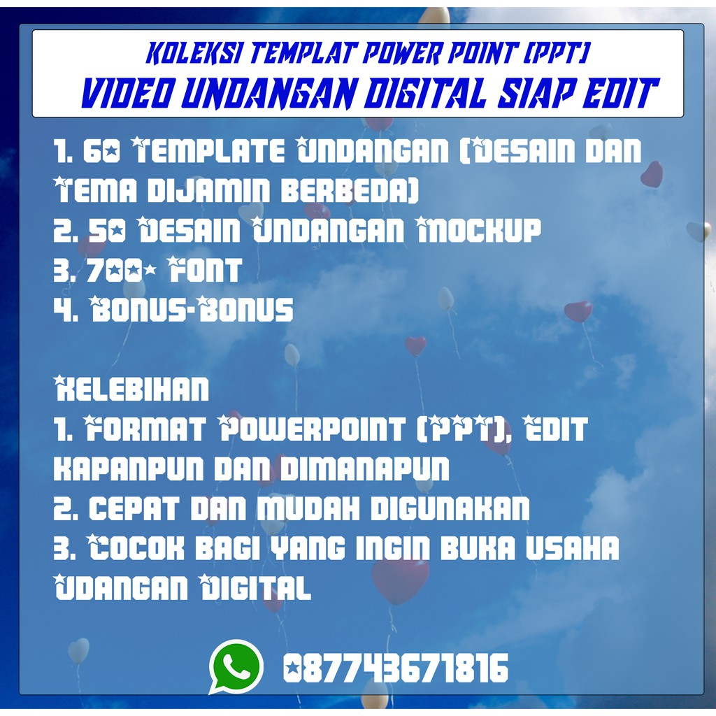 Template Undangan Pernikahan Digital Powerpoint Ppt Shopee Indonesia