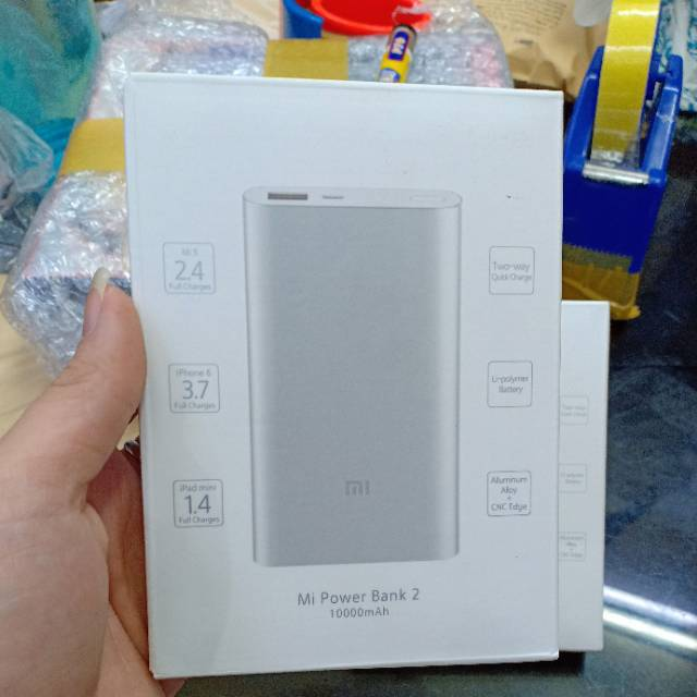 Powerbank xiaomi 10000mah fast charging original 100% / power bank xiaomi 1 usb port original