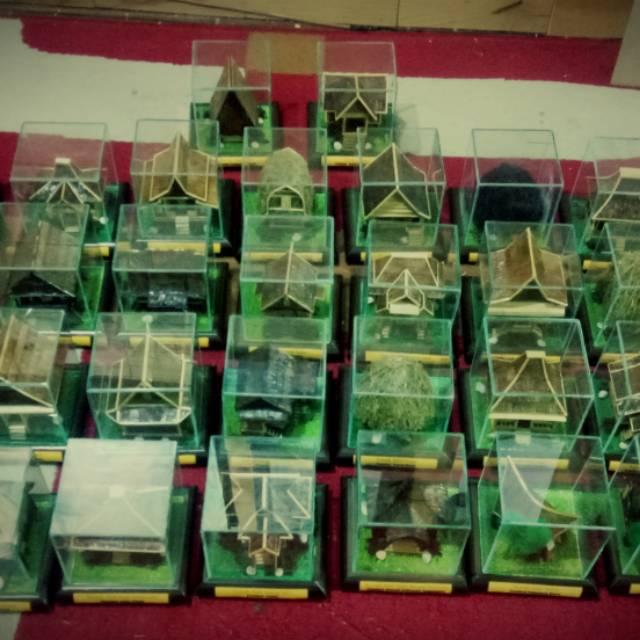 Miniatur Rumah Adat Indonesia 34 Provinsi Shopee Indonesia