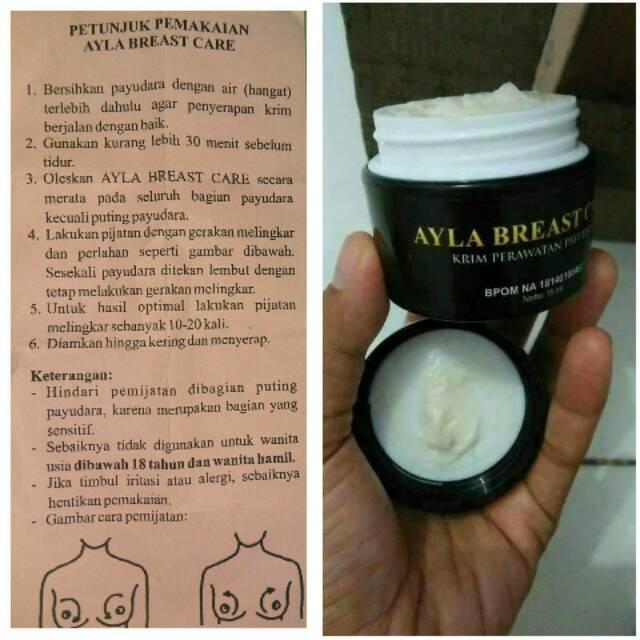 AYLA Breast Care NASA 100% Original   Cream Perawatan Kesehatan Payudara   Shopee Indonesia