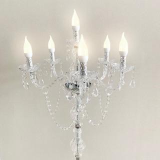 6 led candelabra 1,5 meter variasi akrilik / lampu