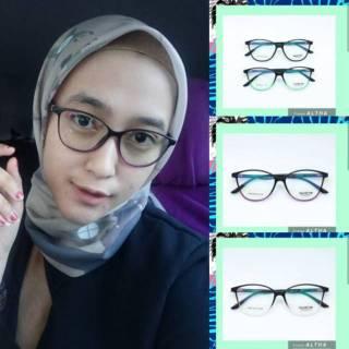 Frame kacamata altha model cat eye + lensa minus plus silinder anti radiasi  aksesoris wanita a1c6df36a3