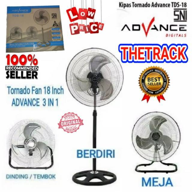 KIPAS ANGIN TORNADO TDS18 3in1 CYCLONE / ADVANCE TDS-18 / MULTIFUNCTION FAN TDS 18 MULTIFUNGSI SM | Shopee Indonesia
