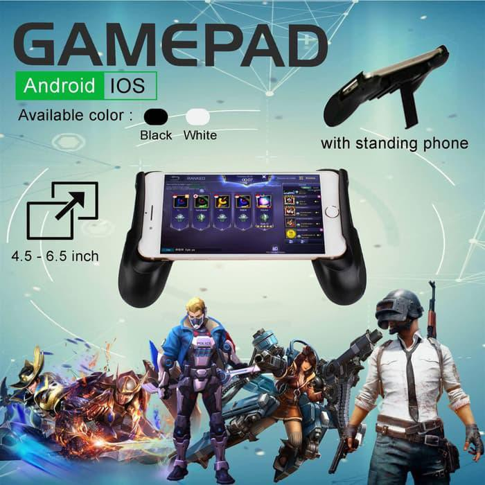 Portable 4 in 1 Cooling Fan Pad Power Bank Charger Stand Holder Gamepad Radiator For Phone | Shopee Indonesia