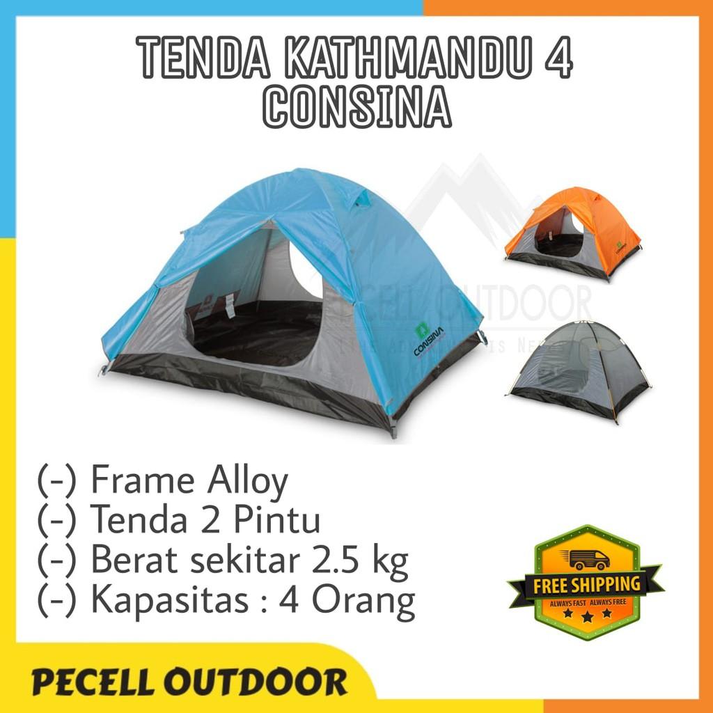 Tenda Camping Dome Outdoor Hiking Gunung Kathmandu 4 Consina Kapasitas 4 Ultralight Waterproof Shopee Indonesia