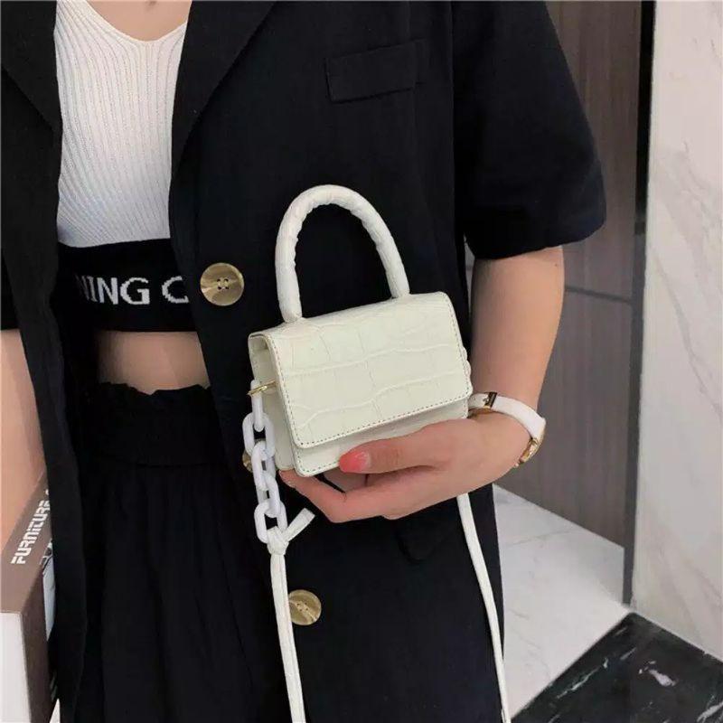 Tas Selempang Wanita Sling Bag MINI CROCO RANTAI | Shopee ...