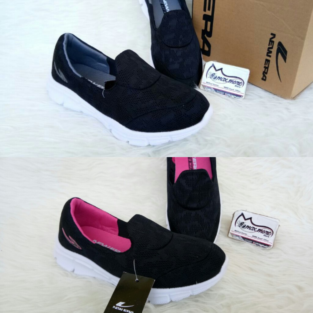 Sepatu Slip On Wanita New Era Marsya Black Fuxia Murah Ardiles Women Glamour Abu Muda 40 Shopee Indonesia