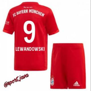 Jersey Baju Bola Anak Lewandowski 9 Bayern Munchen Home 2019 20 Grade Ori Shopee Indonesia