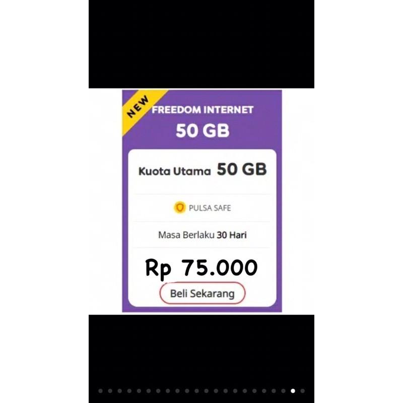 kuota Indosat/IM3 termurah se Indonesia promo Freedom internet 50gb hanya 95.000