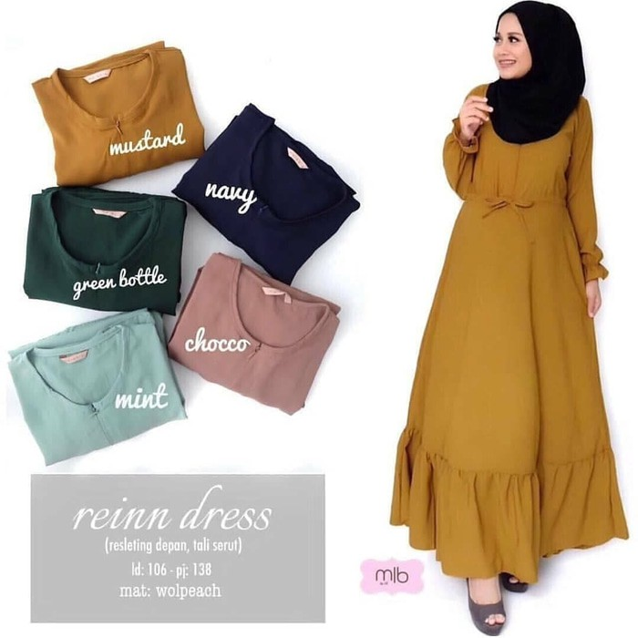 RUMAH HIJAB outer aida dress/outer aida maxy/gamis wanita/gamis remaja bahan Balotelli all size | Shopee Indonesia