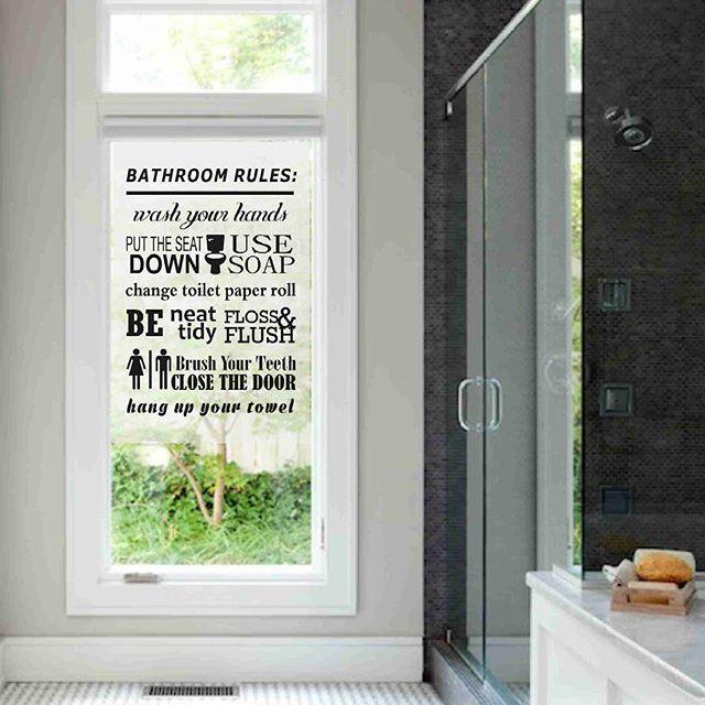 Sticker Bathroom Rules Mirror