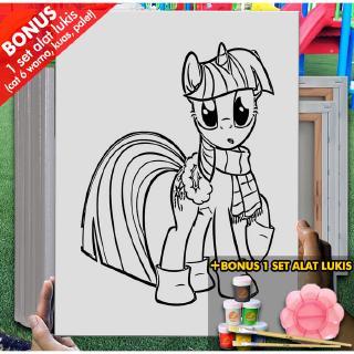 Kanvas Menggambar Anak Monopoly Little Pony 30x40 Cm Mel1139 Mewarnai Coloring Shopee Indonesia