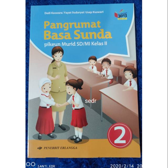 Buku Pelajaran Bahasa Sunda Pangrumat Basa Sunda Untuk Kelas 2 Sd Mi Shopee Indonesia