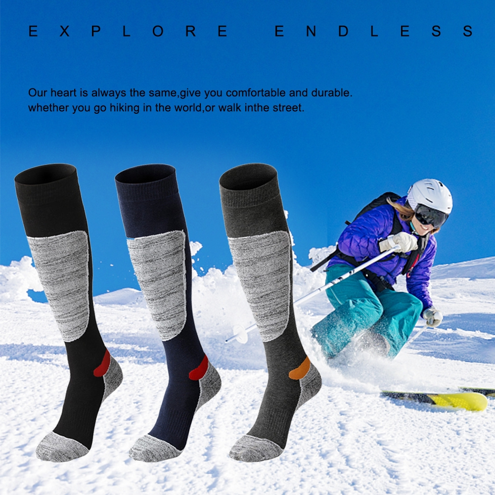 Sports Skiing Socks For Outdoor Waterproof Breathable Winter Hiking Running