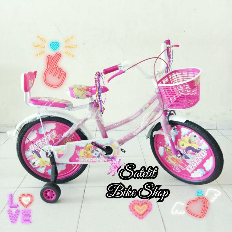 Sepeda Anak Cewek Ukuran 18 Legend BNB Family Pink Ungu Sepeda Anak Cewek Sepeda Anak Perempuan Murah