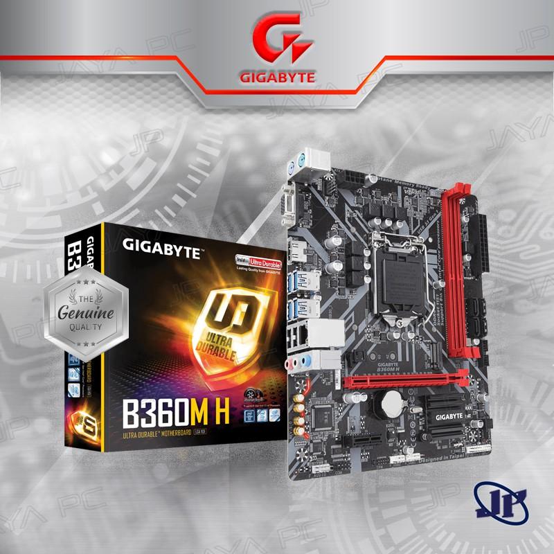 Motherboard Gigabyte B360M-H (LGA1151, B360, DDR4, USB3 1, SATA3)