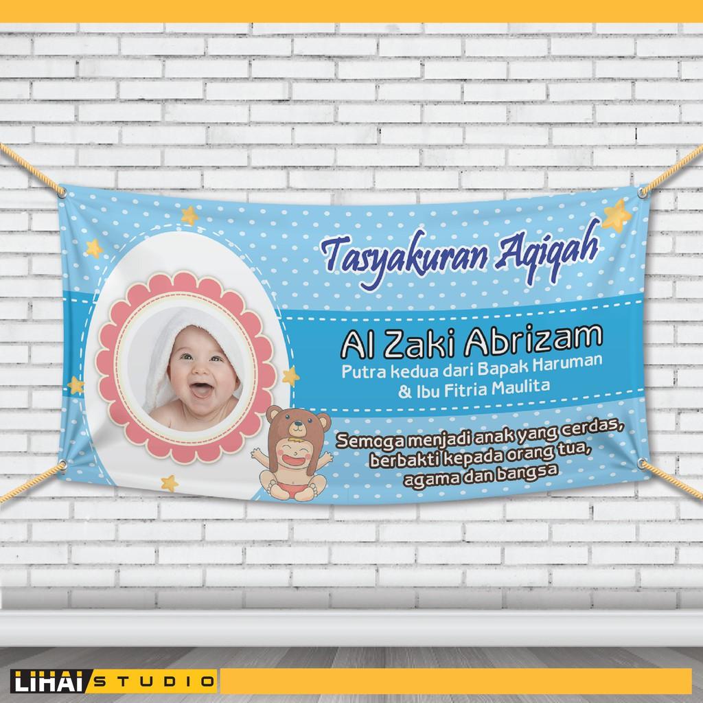 Banner Aqiqah Anak Laki Laki - desain spanduk kreatif