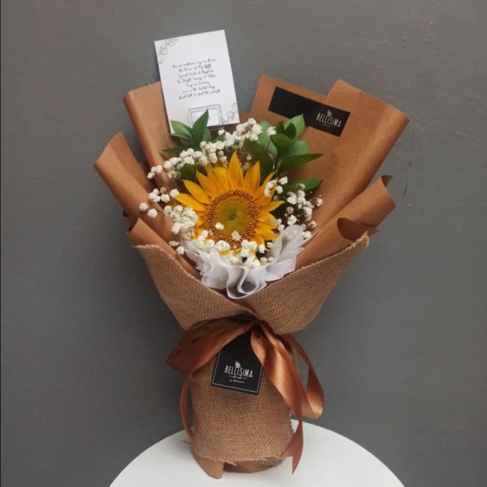 Bellisima Florist Bogor - buket bunga matahari segar bunga asli