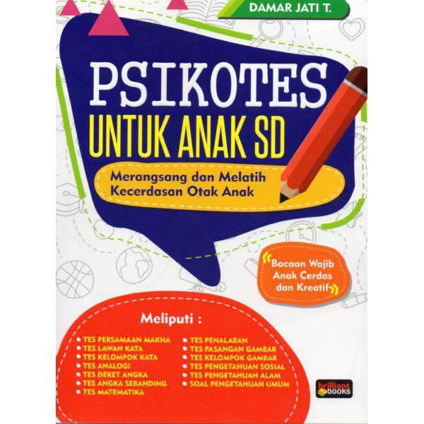 Paket Buku Psikotes Anak Sd Tes Iq Dan Eq Untuk Sd Shopee Indonesia