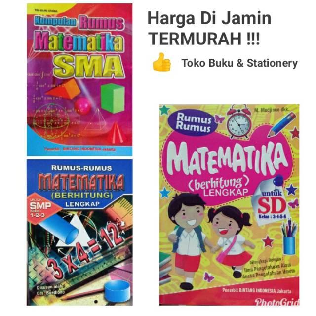 Buku Kumpulan Rumus Matematika Sd Smp Sma Shopee Indonesia