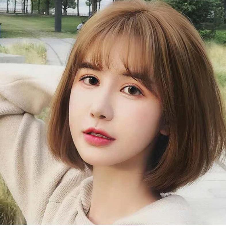 Wig Perempuan Rambut Pendek Jepang Dan Korea Poni Udara Wig Kepala Bobo Shopee Indonesia