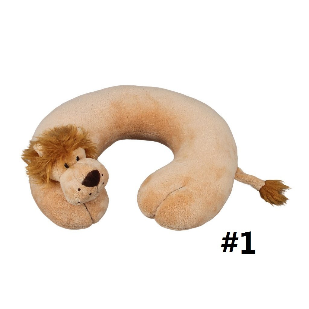 Travel Neck Inflateble Pillow Bantal Leher Tiup Anti Pegal Spec Minigood Isi Butiran Pasir Empuk Hidup Pengunci 96507