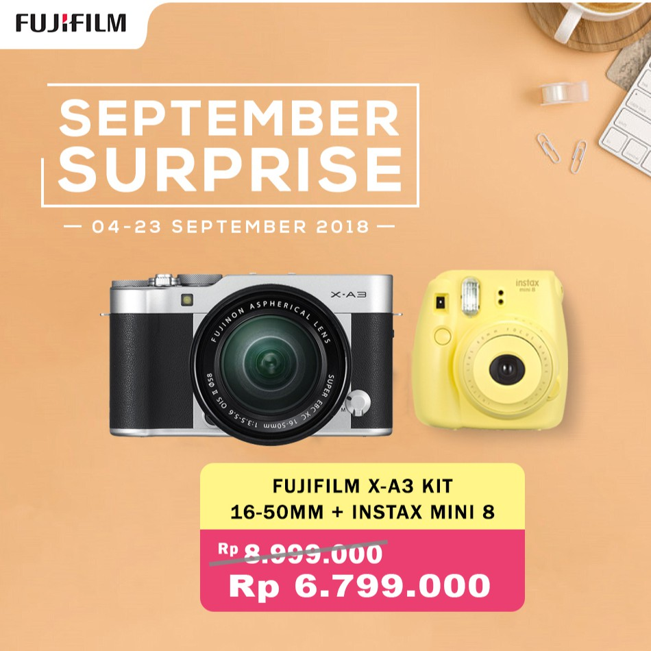 Info Harga Fuji Digital Camera X A20 Xc15 45mm F35 56 Ois Pz Update Fujifilm Xa20 Kit Garansi Resmi Indonesia A3 Xc 16 50mm Mini 8 Sd 16gb