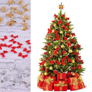 Christmas Tree Bow.Party Decoration Christmas Tree Bowknot Red Home Ornaments