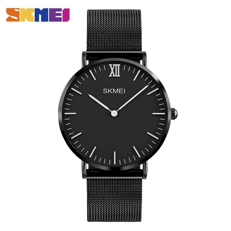 SKMEI Jam Tangan Analog Kasual Pria Quartz Leather Strap Stopwatch Day Date 9106 | Shopee Indonesia