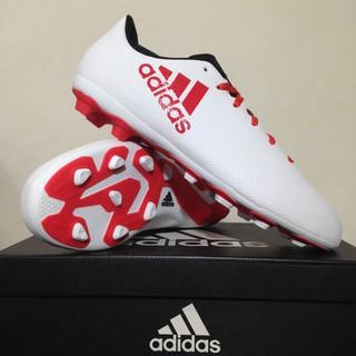 3a6c0ead49e8 Sepatu Bola Anak Adidas X 17.4 FXG Junior White Coral Red CP9015 Original  BNIB