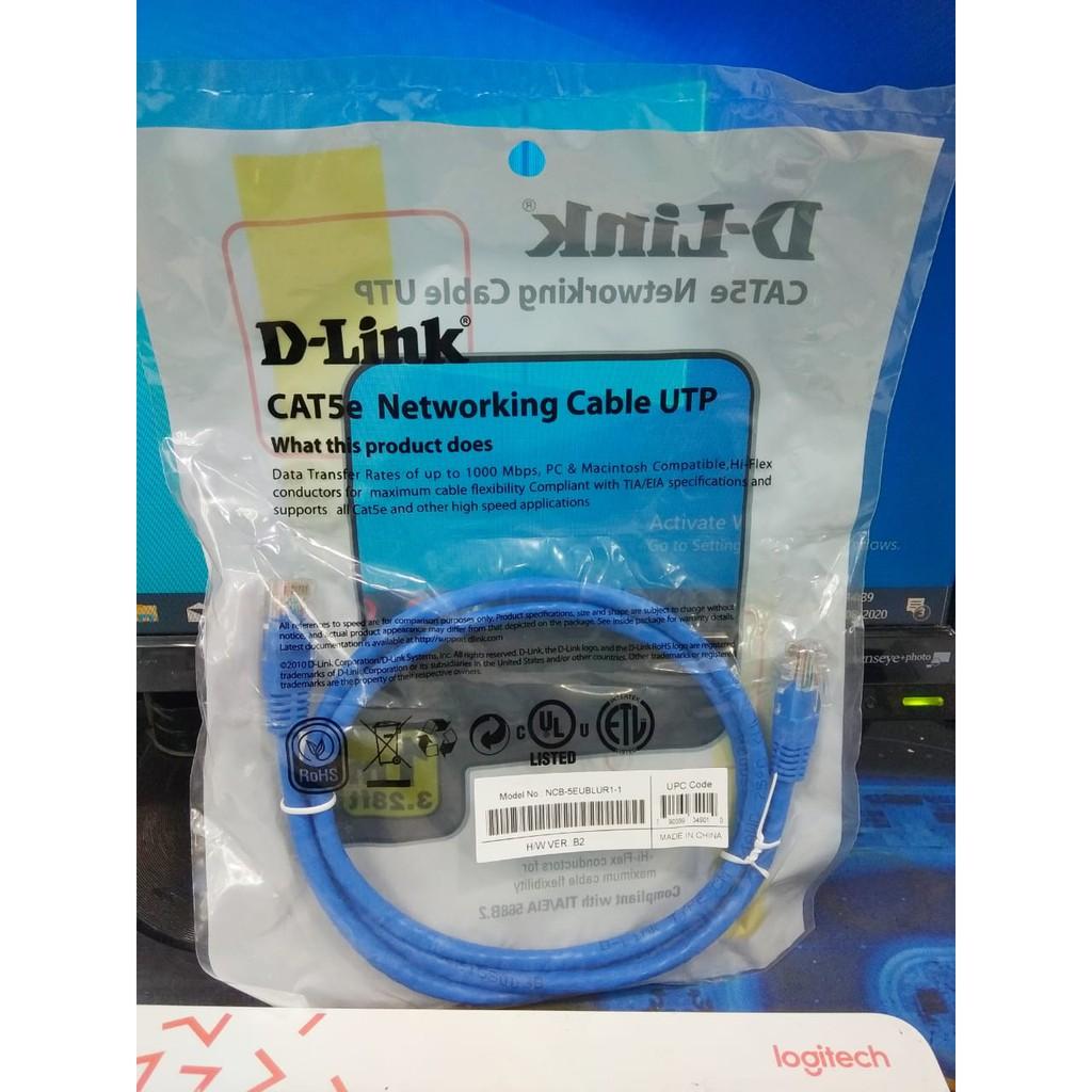 Kabel D Link Utp Cat5e 1 Meter D Link Dlink Shopee Indonesia