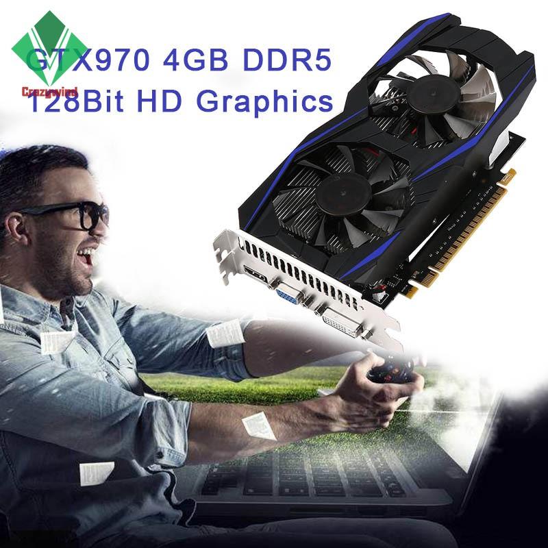 Kartu Grafik Video Gaming 4GB ddr5 128bit VGA DVI HDMI PCI Express