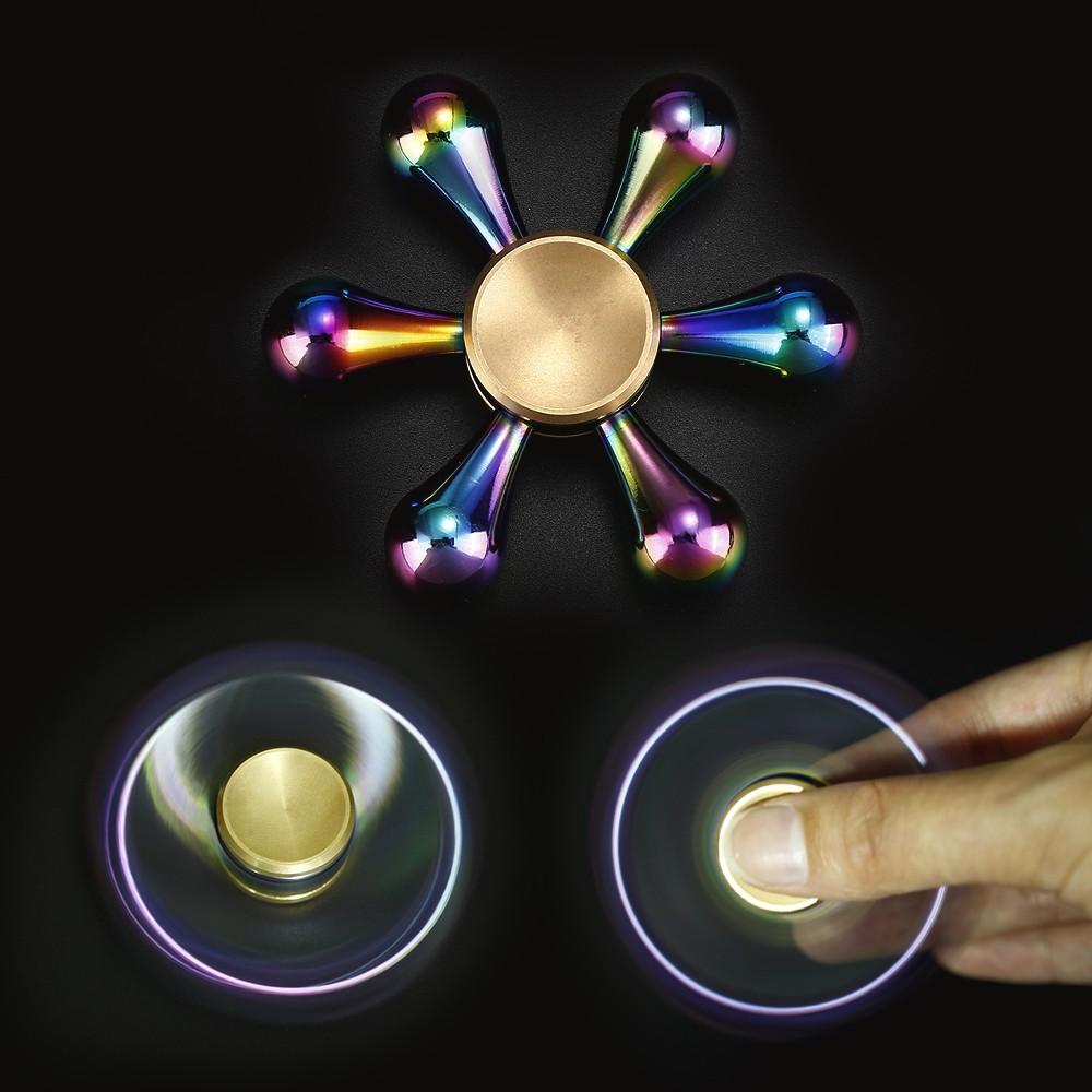 Spinner Metal Glow In The Dark Transfaran Adult Stress Anti Fidget Mainan 75cm Edc Putar Tangan Bahan Keramik Warna Warni Untuk Melatih Fokus Pada Adhd Shopee
