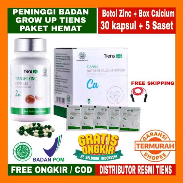 PROMO Peninggi Badan Tiens Nutrient Calcium 1 Box NHCP 1 Zinc Penambah  Tinggi free Skiping
