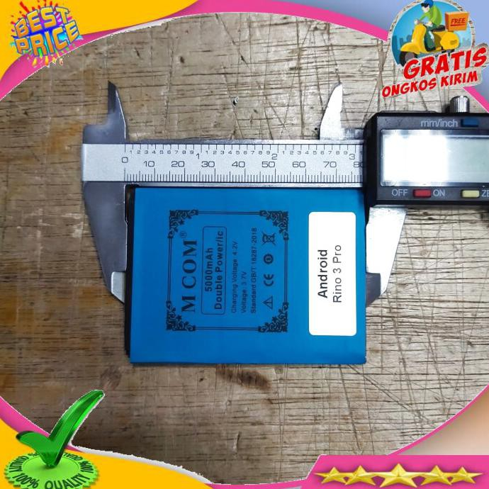 ACC HP BATERAI RINO 3 PRO ANDROID BATERAI PRINCE PC 12 4G LTE