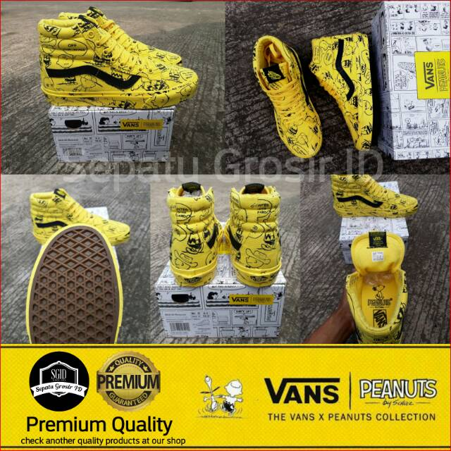 Sepatu Vans x PEANUTS Old Skool Charlie Brown Maize Yellow Black BNIB  Premium Original  359d85f98