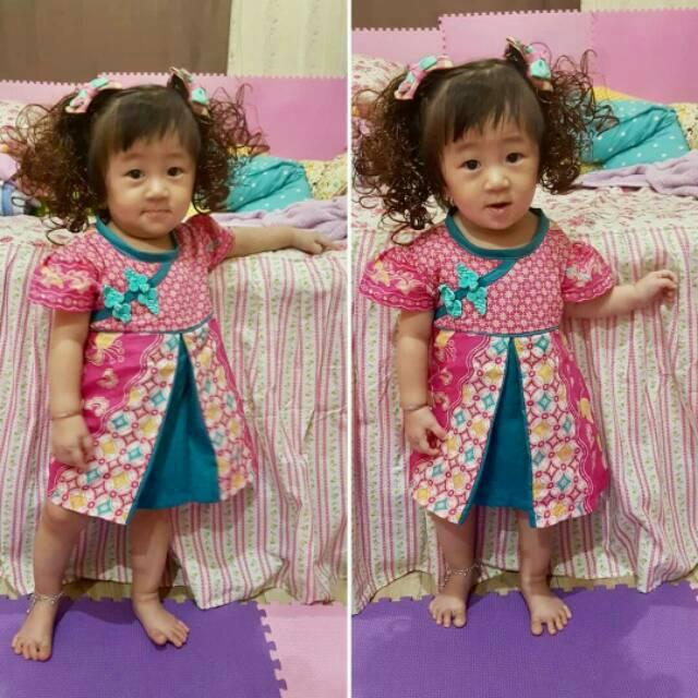 Foto Baju Batik Anak Modern Ethnic Jia Li Cheongsam Dress Batik Anak Dress Batik Modern Baju