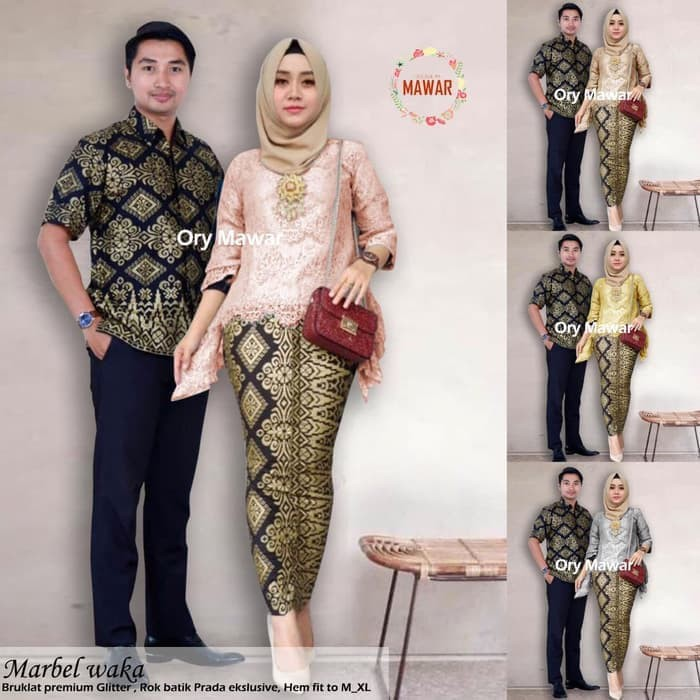 Termurah Batik Pesta \ Batik Acara \ Batik Couple / Batik Sarimbit / Batik Kondangan Sandy Aulia | Shopee Indonesia