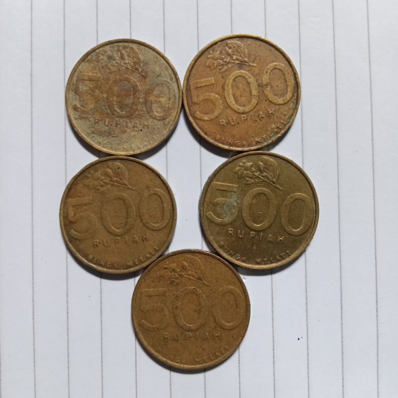 Uang koin  500 melati kecil tahun emisi 2003/uangkuno/koinkuno