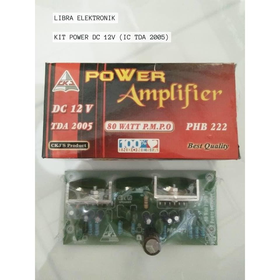 Kit Power Tda 2005 Dc 12v Ckj Shopee Indonesia Stereo Amplifier 4w 8w With Tda2005