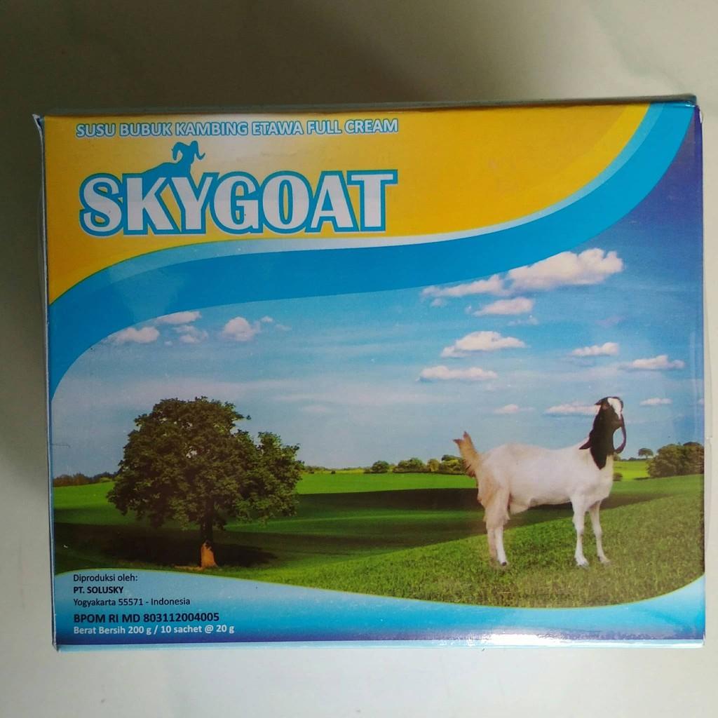Glr Sky Goat Susu Kambing Etawa Bubuk Full Cream Skygoat Original Shopee Indonesia