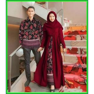 Baju Batik Couple Muslim Terbaru Sarimbit Gamis Baju Pesta Baju