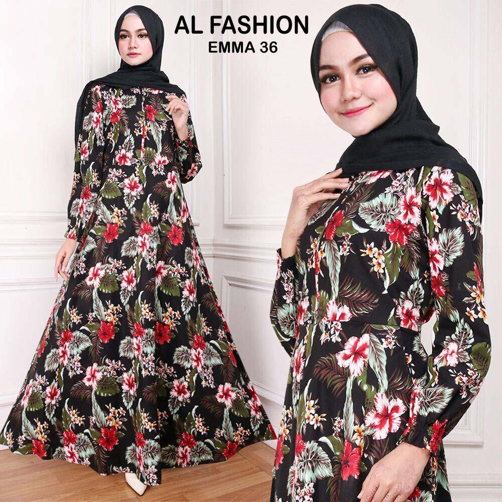 Ab Agen Baju Official Shop Maxi Emma Gamis Syari Muslim Wanita 23 Gamia Model Kekinian Long Dress Ori Jumbo Aja Shopee Indonesia